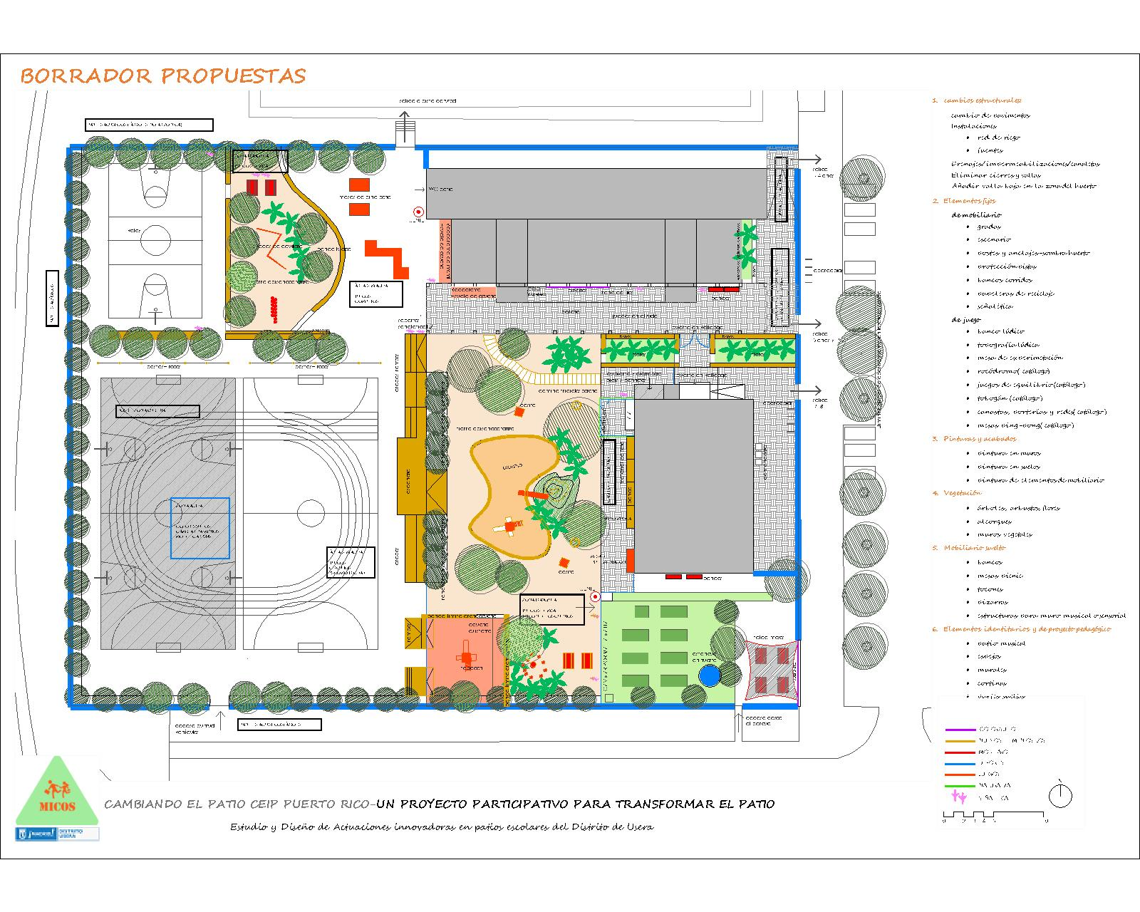 Actuaciones innovadoras en patios de colegios de Usera - Pez Arquitectos
